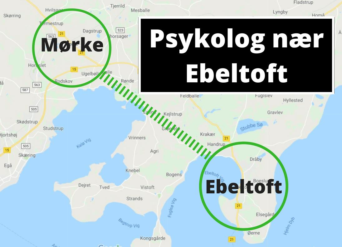Psykolog Ebeltoft · Sydjurs · Djursland - lokal psykolog i Mørke